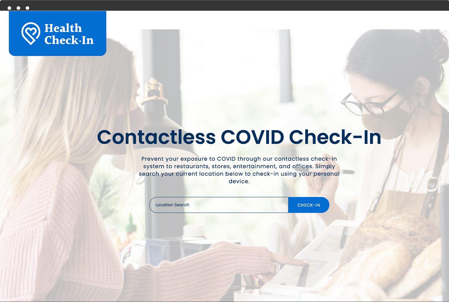 Image of Health Check In's Website