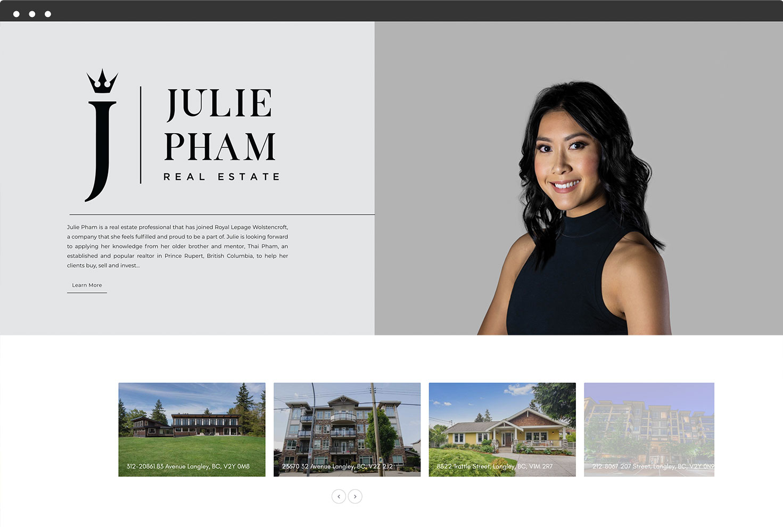 Julie Pham Website Slide