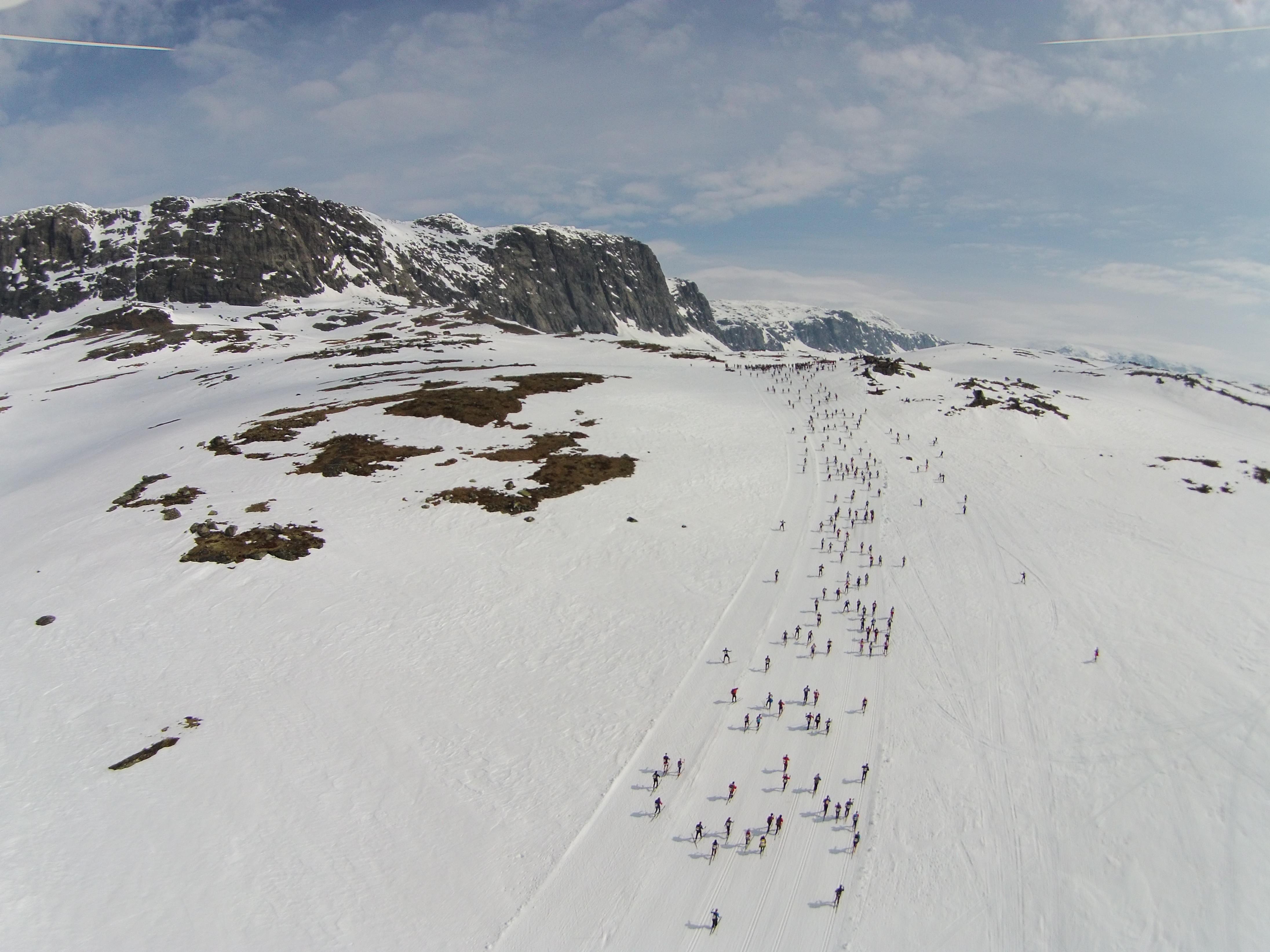 Dronefoto av Skarverennet