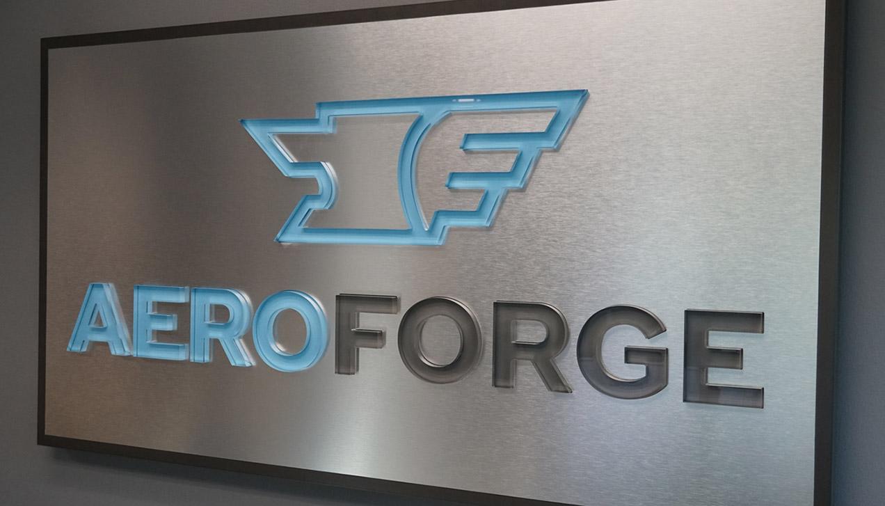 aeroforge reception design sign