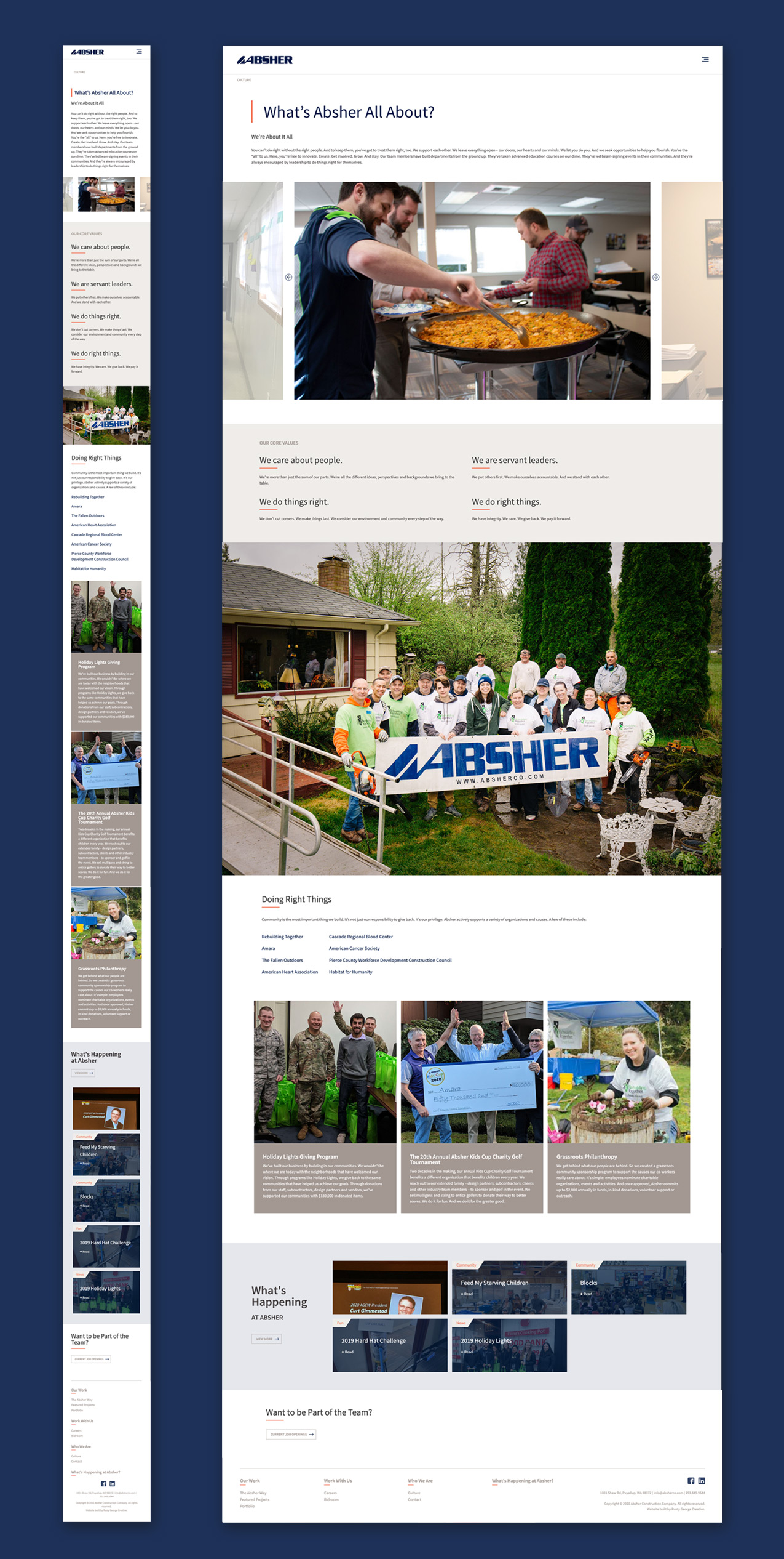 Absher construction website strategy marketing and design the people-first full-service construction firm responsive screen shots
