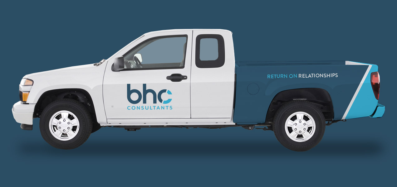 BHC consultants truck wrap