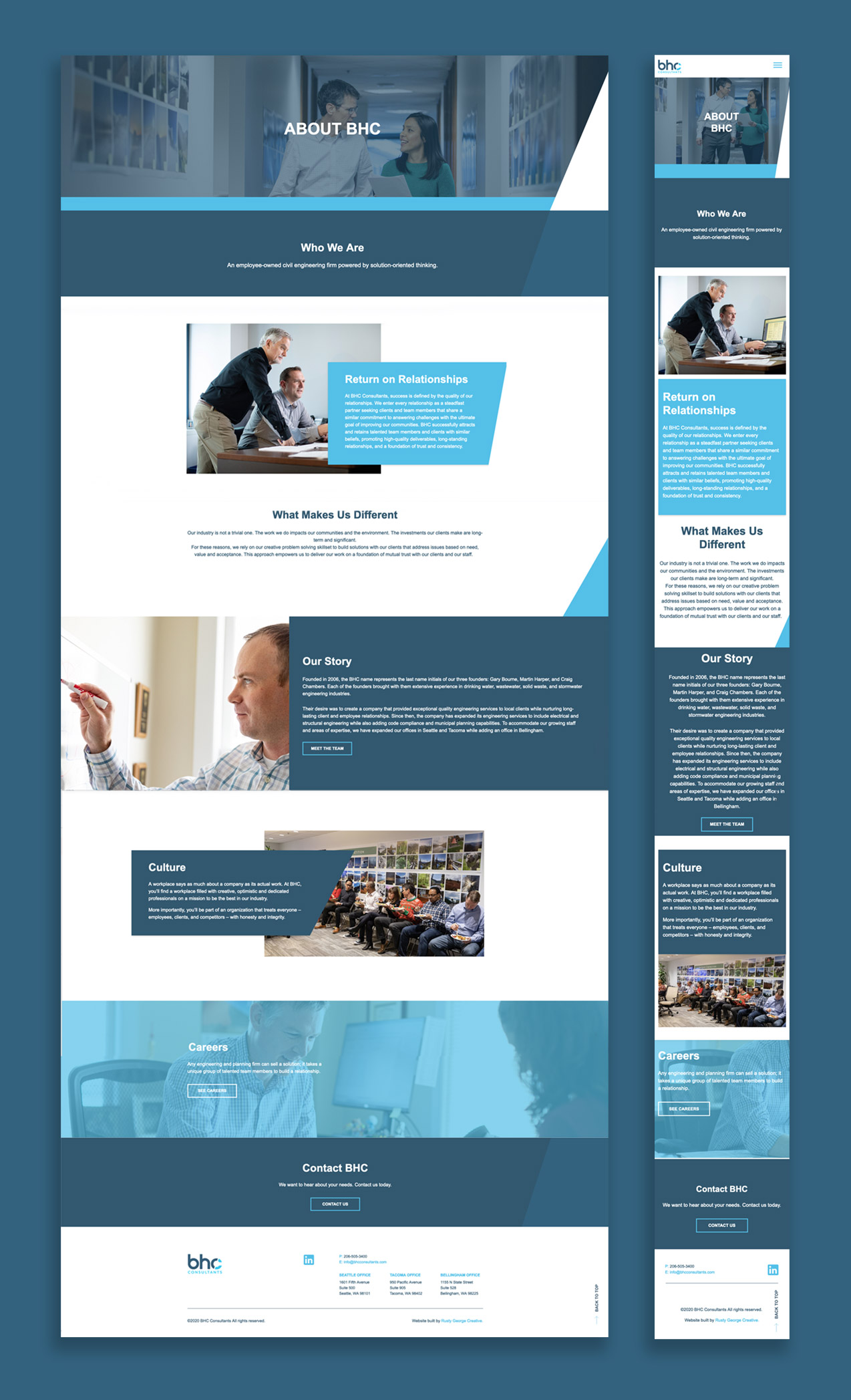 BHC consultants responsive website design marketing and strategy