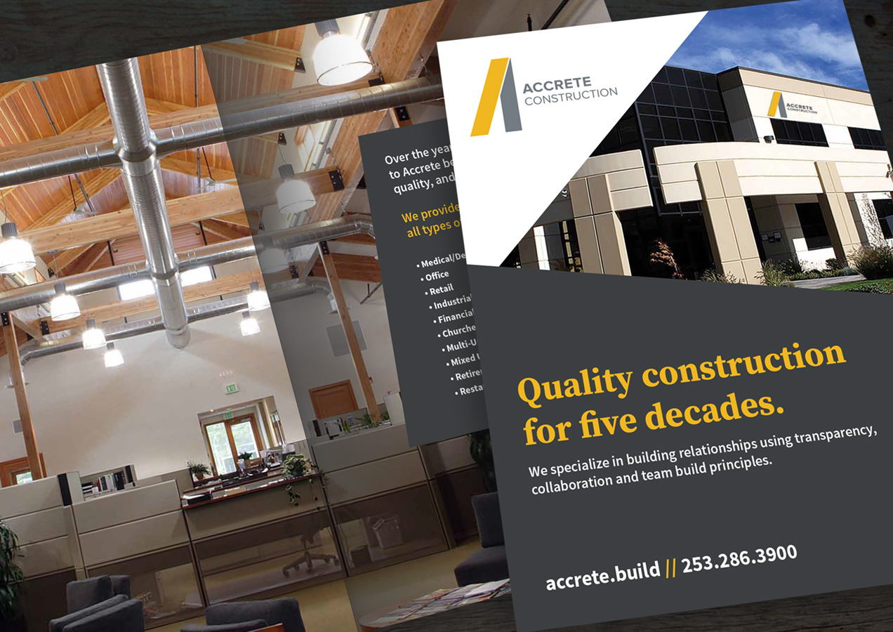 accrete construction brochure design