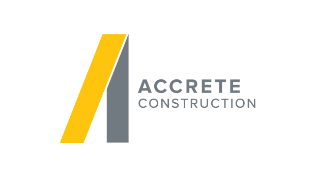 accrete construction logo design