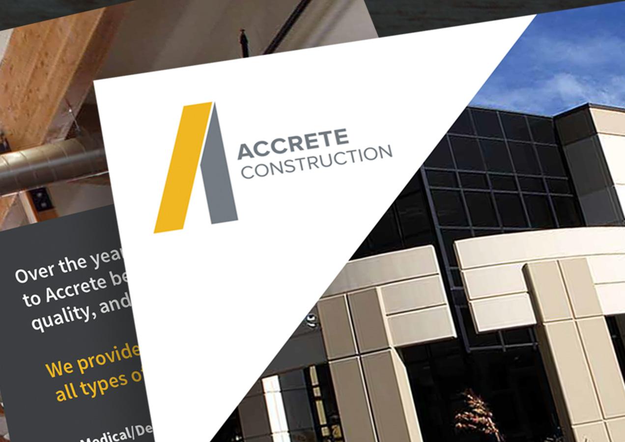 accrete construction brochure design