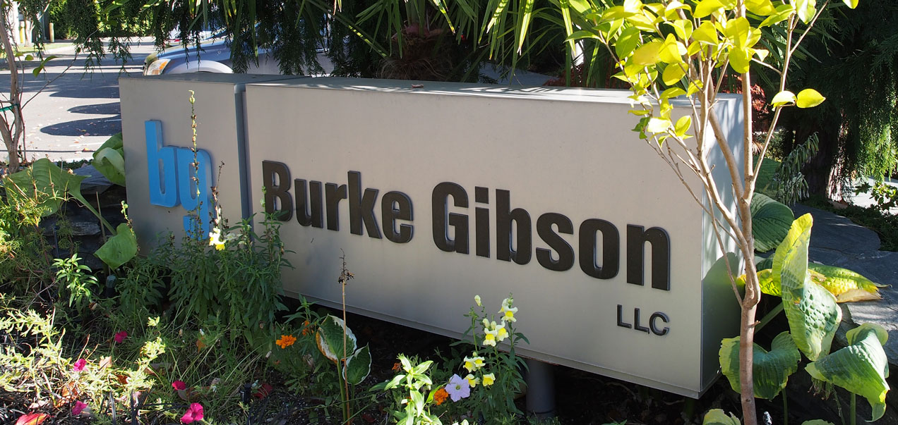 burke gibson llc building entry sign