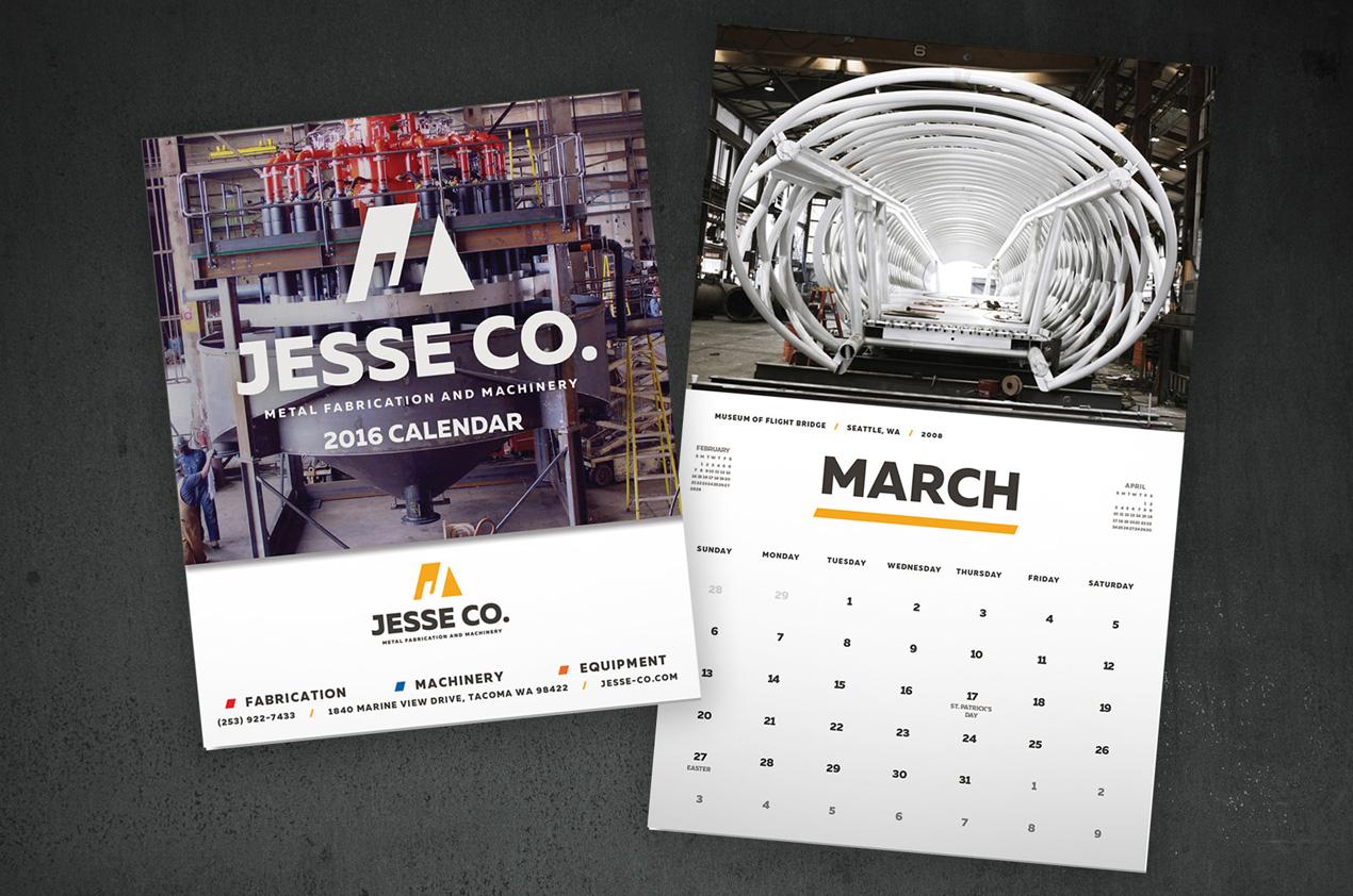 jesse co calendar design
