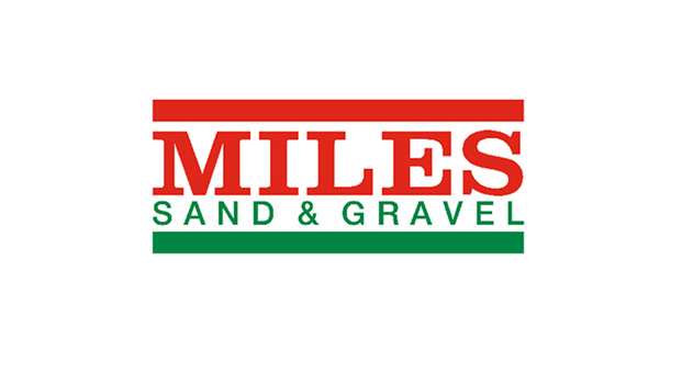 miles sand and gravel logo before