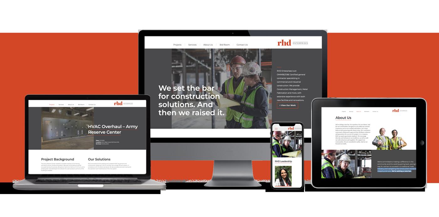 Fully responsive RHD enterprises website