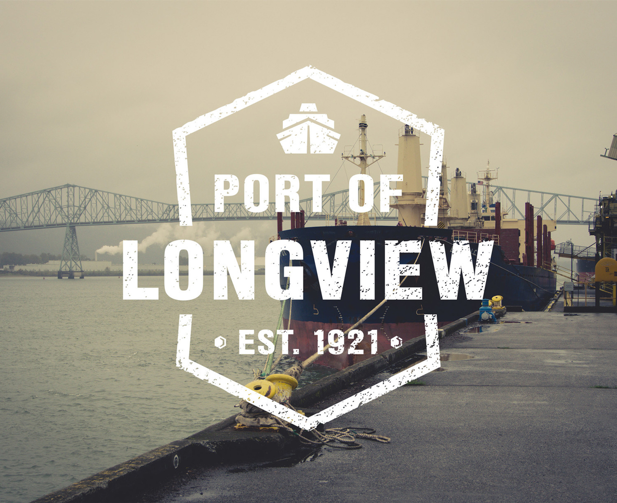 Port of Longview logo and brand design