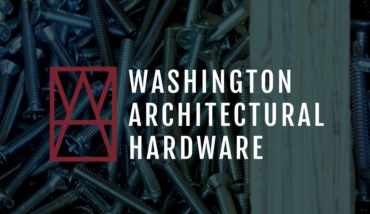 washington architectural hardware brand logo and graphic system design