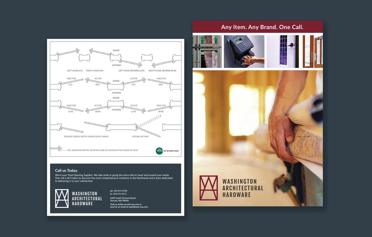 washington architectural hardware marketing materials design and development
