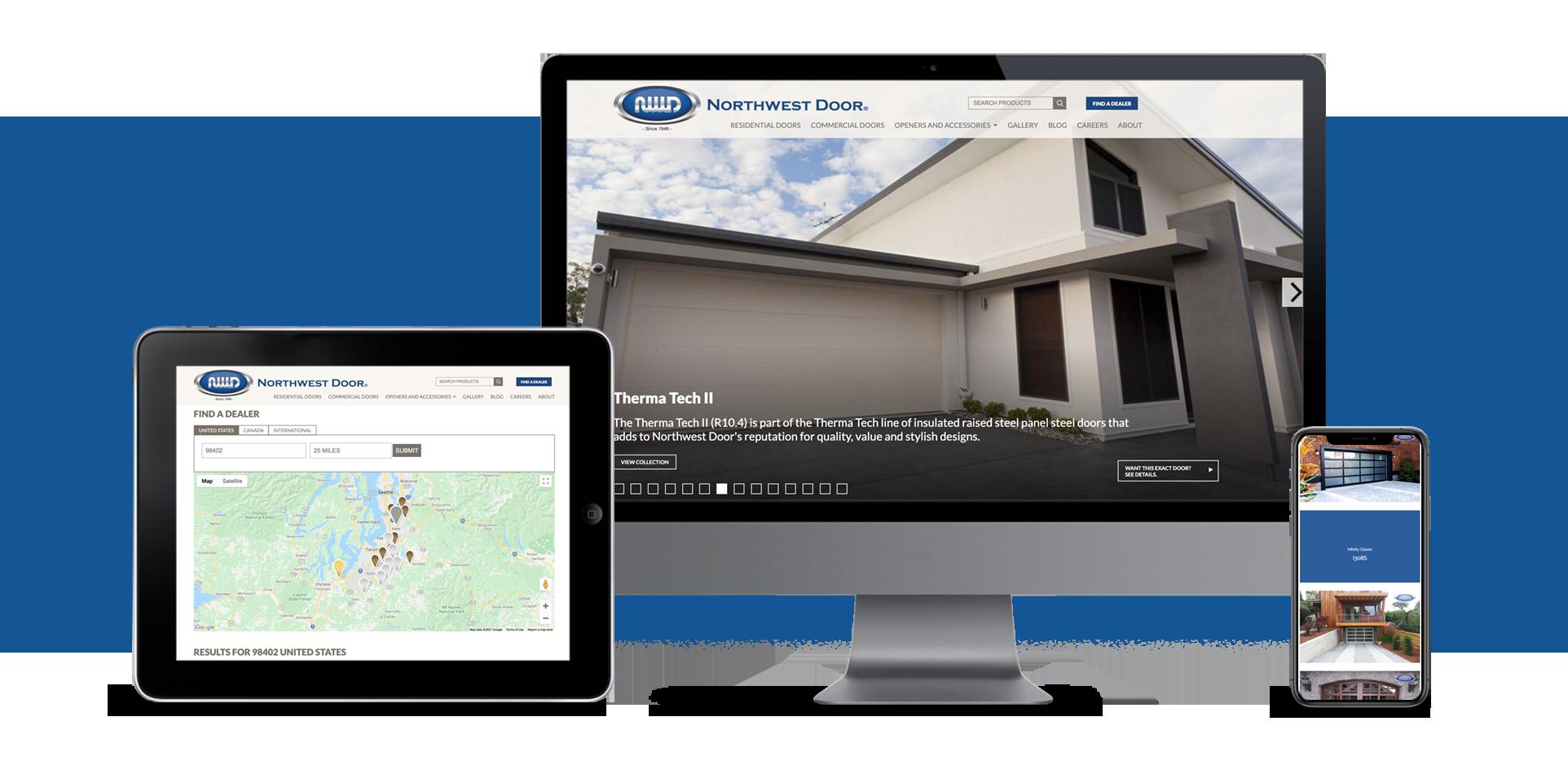 Fully Responsive website for Northwest Door