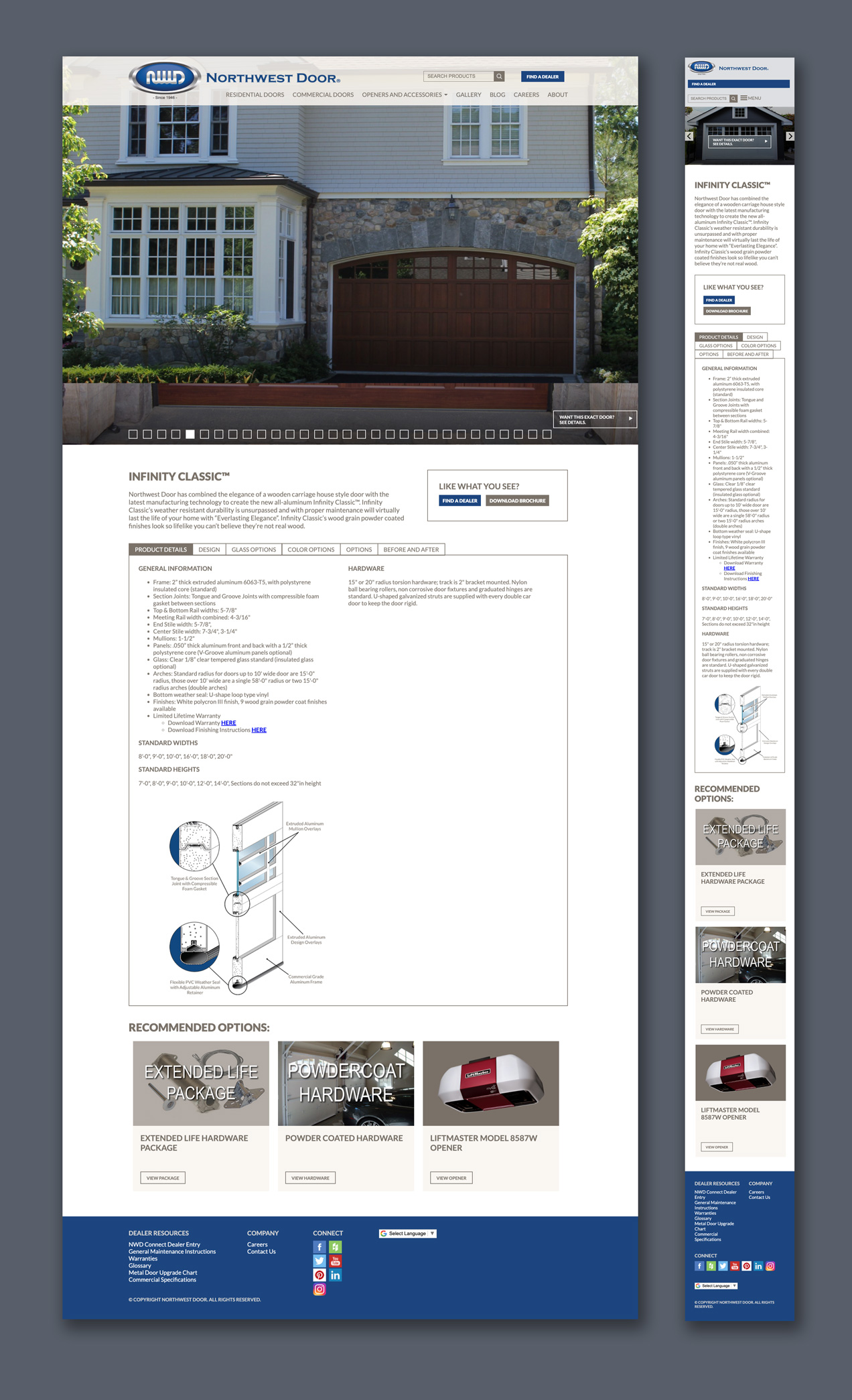 northwest door responsive web site design and development for stronger marketing and customer engagement