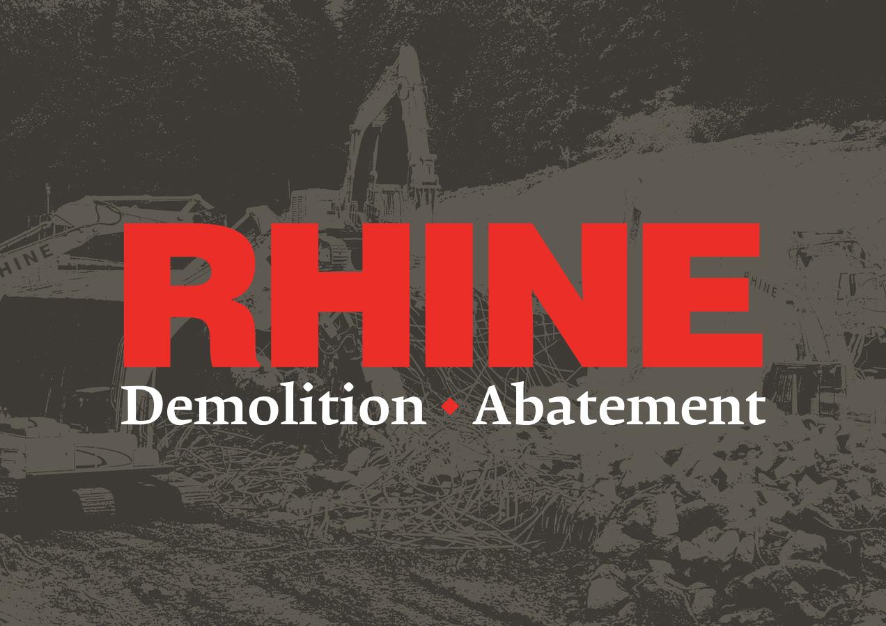 New Rhine demolition logo by Rusty George Creative