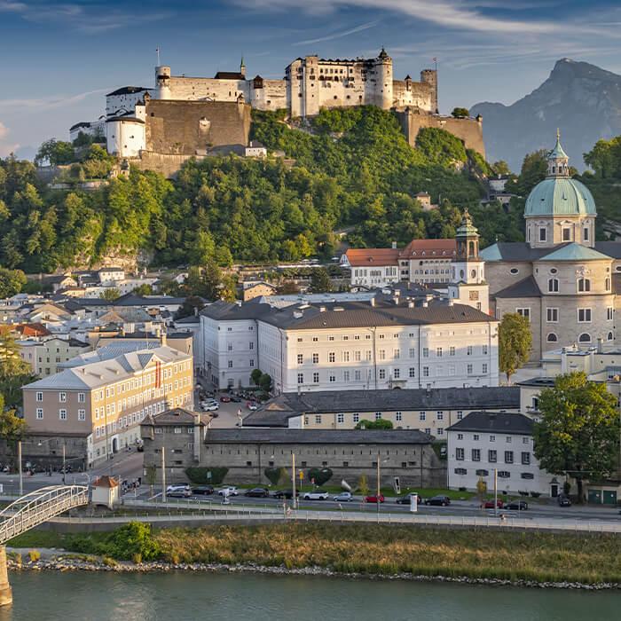 Ausblick über die Salzburger Altstadt