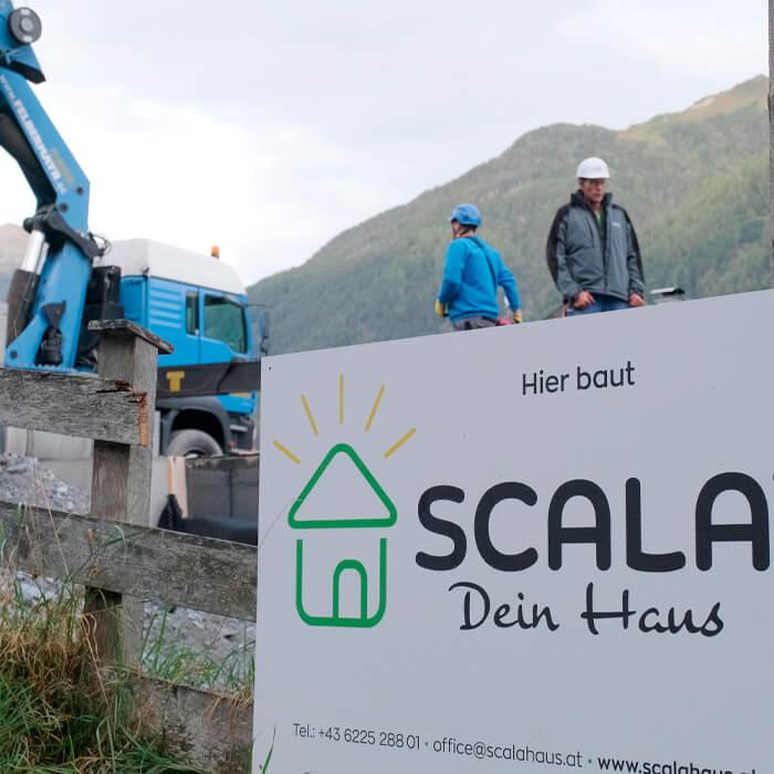 Eindrücke von der Baustelle eines SCALA Hauses