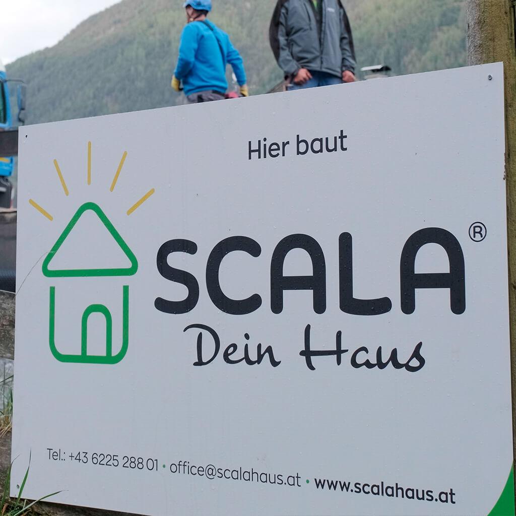 Baustelle - Hier baut SCALA Dein Haus.