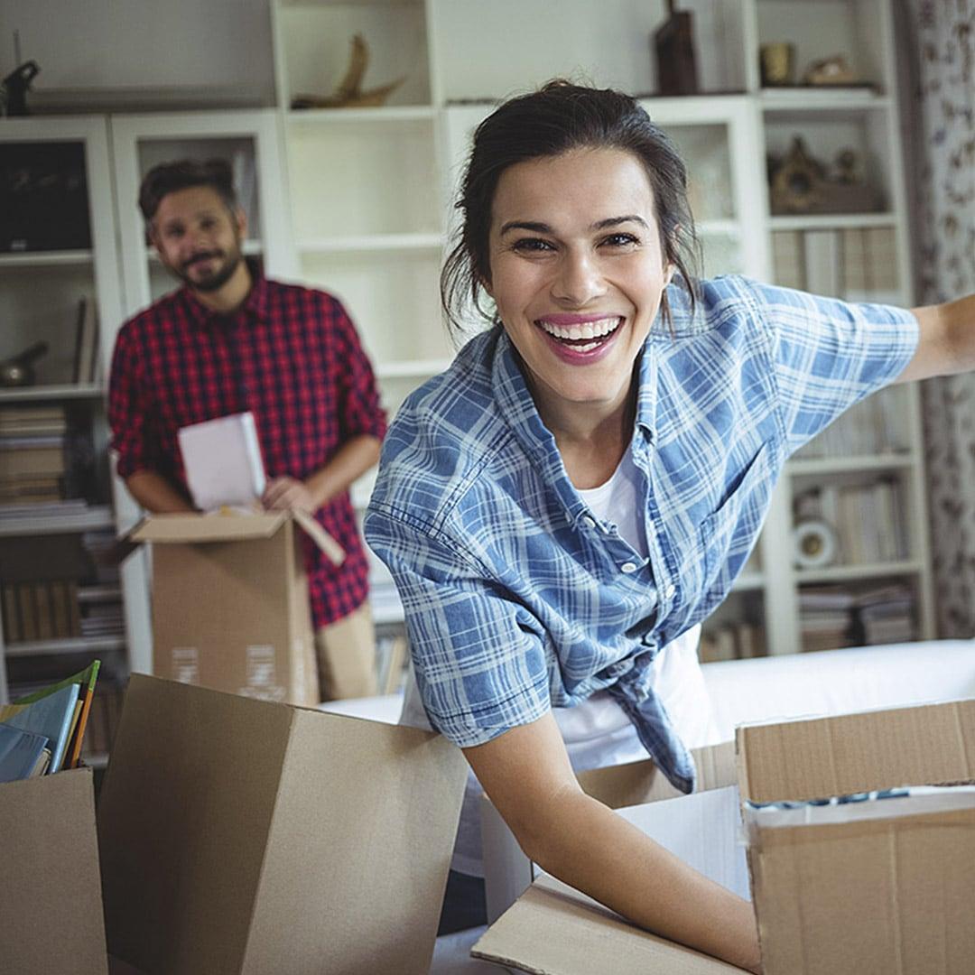 Zufriedene SCALA Kunden beim Erstbezug ihres neuen SCALA Hauses