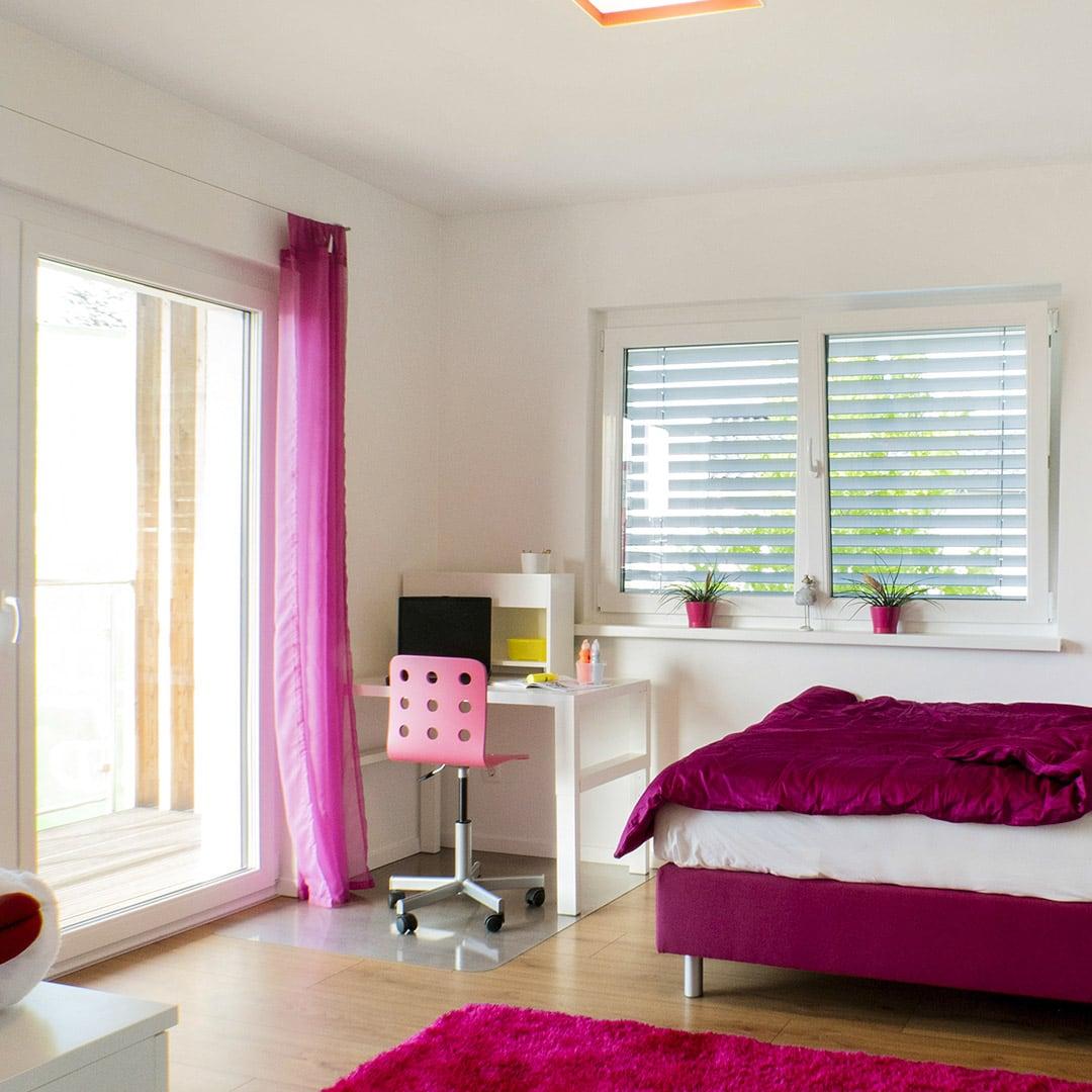 Viel natürliches Licht im Schlafzimmer