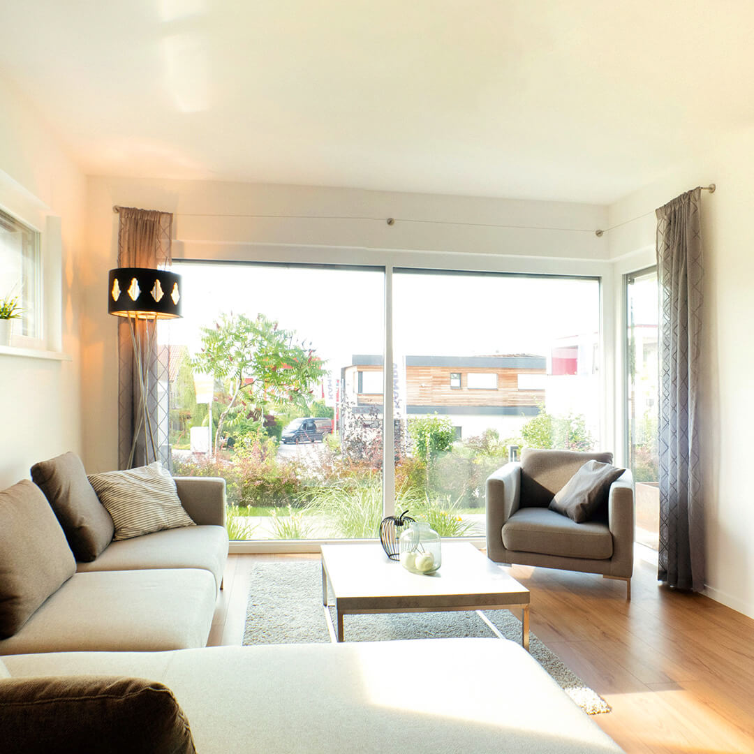 Gemütlich und hell: Das Wohnzimmer