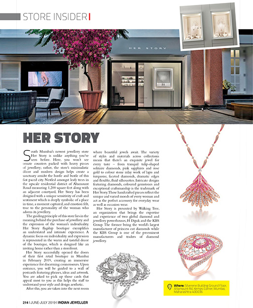 Her Story boutique in Indian Jeweller Store Insider