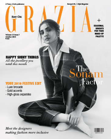 Sonam Kapoor wearing Her Story Limitless earrings for Grazia cover