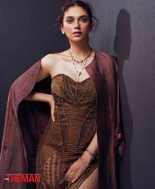 Aditi Rao Hyadri wearing Her Story Limitless jewellery for the Man Magazine