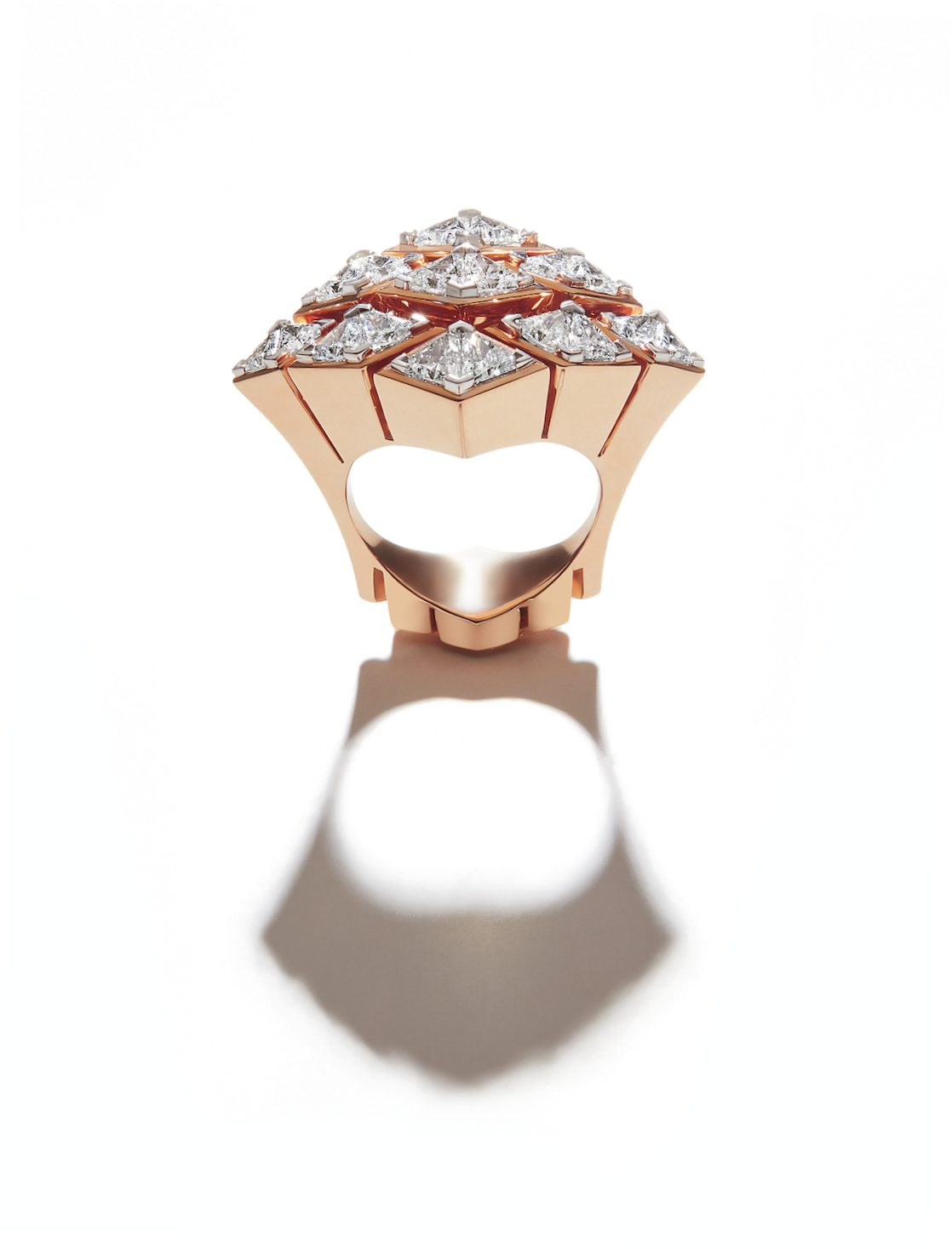 Her Story Limitless ring in 18K rose gold, diamond