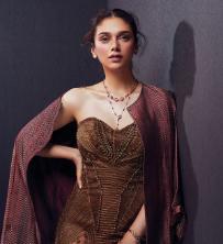 Aditi Rao Hyadri wearing Her Story Limitless rose gold jewellery for the Man Magazine