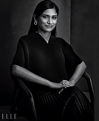 Entrepreneurs wearing Her Story jewellery in Elle India