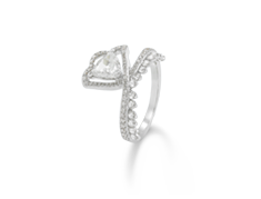 Her Story Whisper in the Wind Solitaire 18K white gold diamond ring