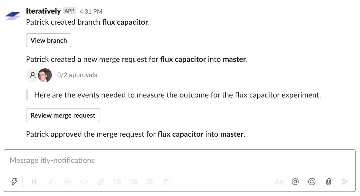 Slack Notifications Iteratively