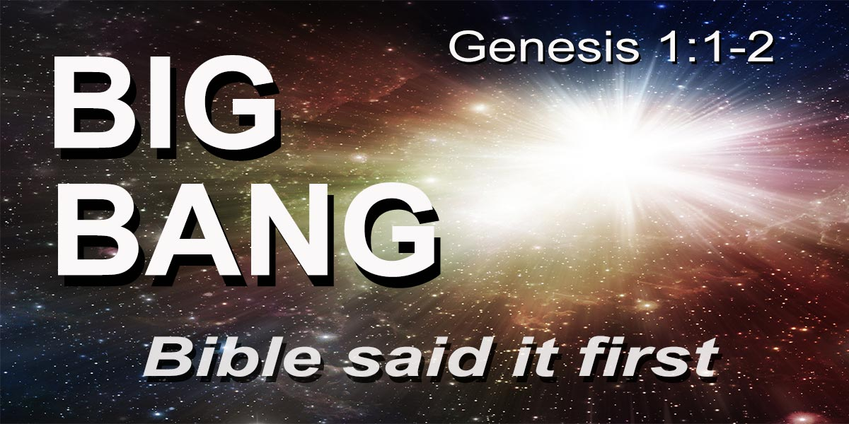 Big Bang in God's creation of universe