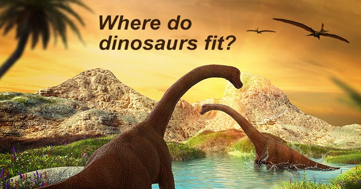 Dinosaurs during early life on earth before God created Adam