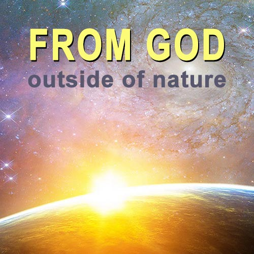 Earth creation by God from outside of nature