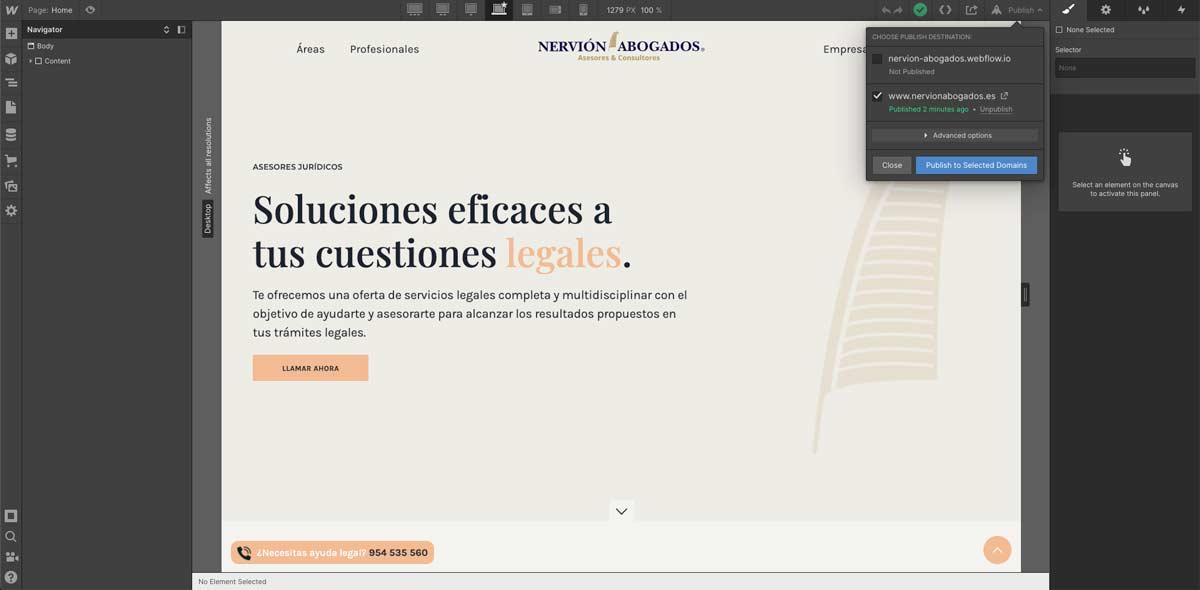 Crear web en Webflow