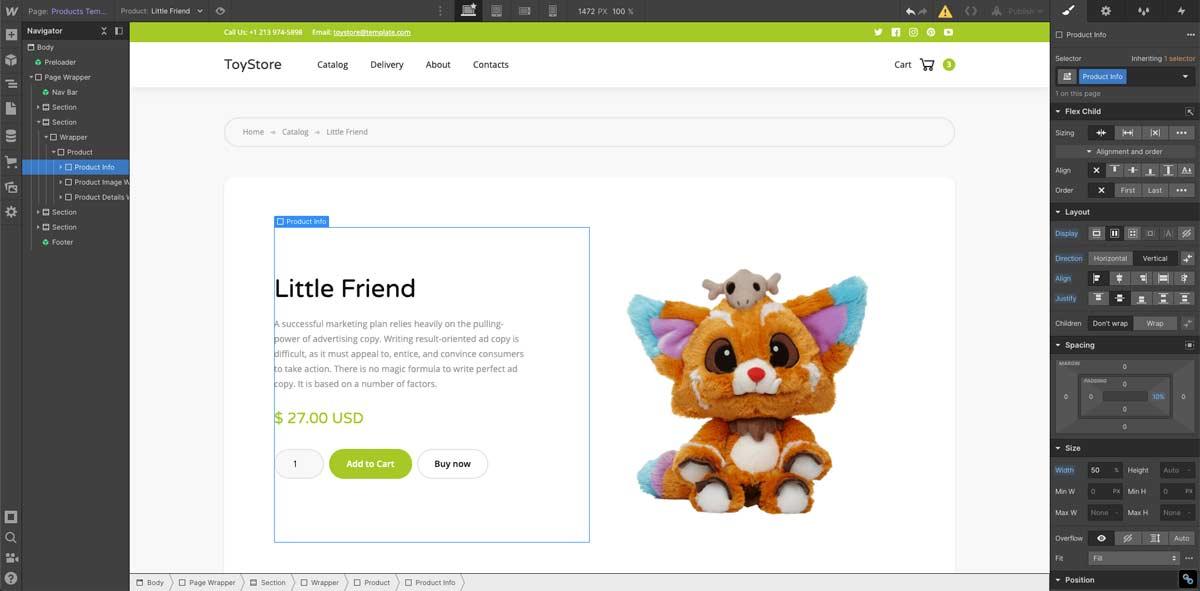 Crear tienda online en Webflow