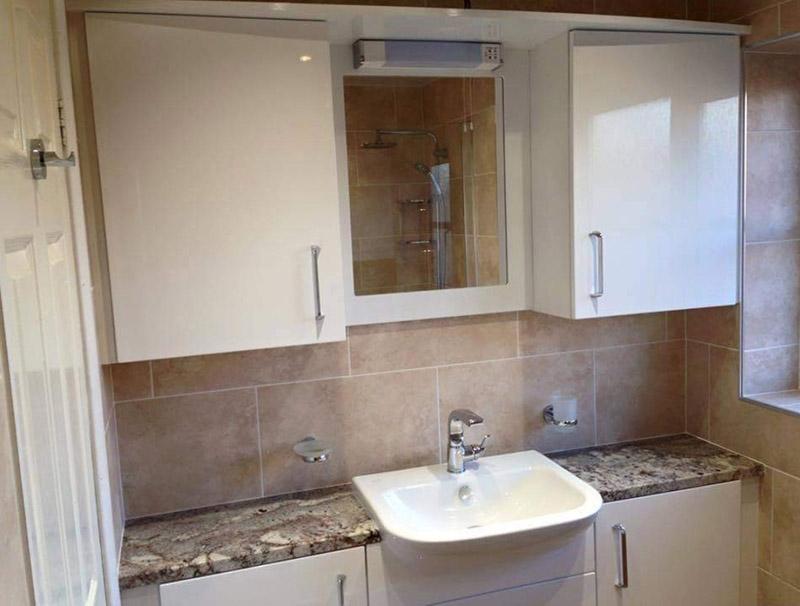 Crystal Blue Granite Bathroom Vanity