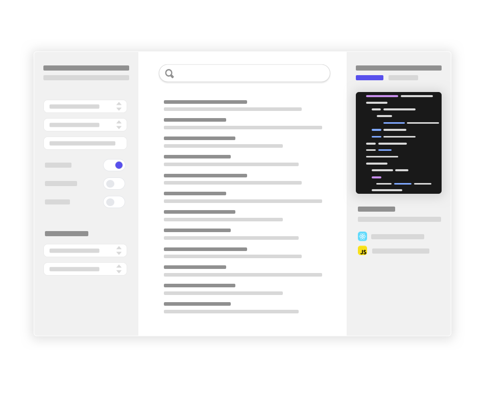Search interface builder feature