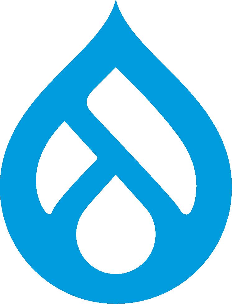 Drupal icon blue
