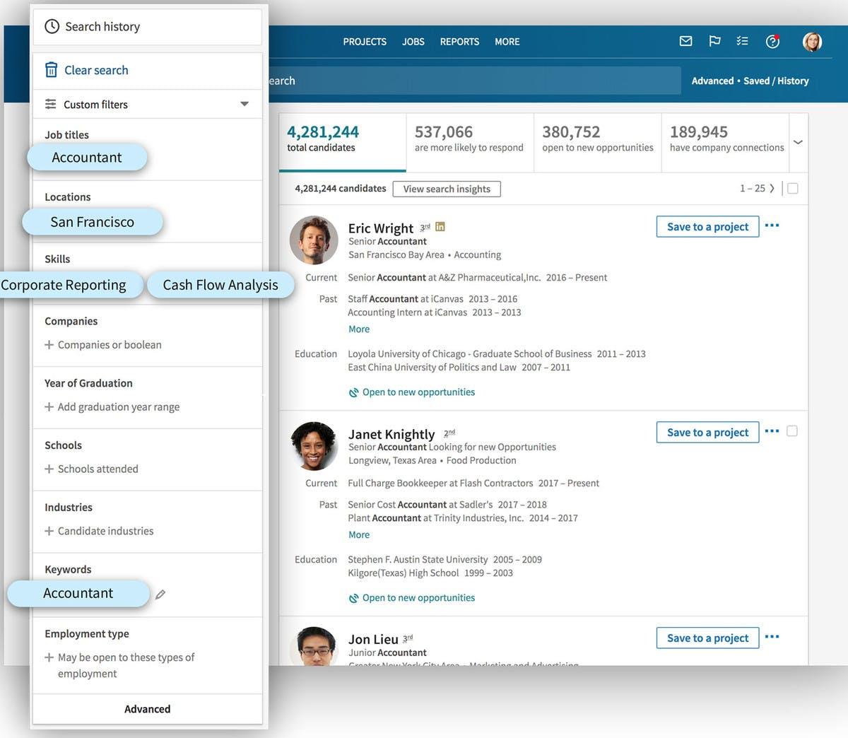 Multi purpose search interface