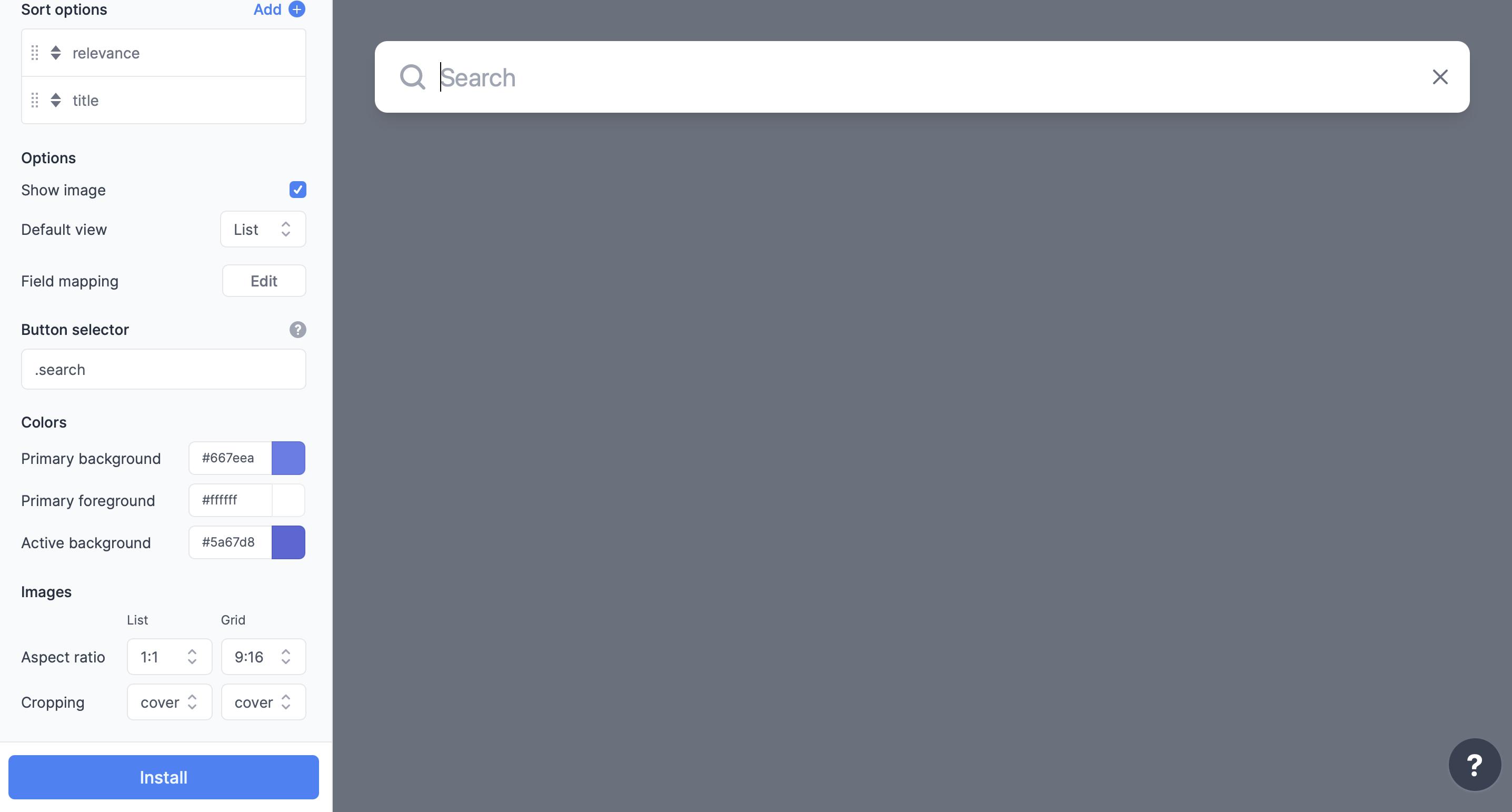 Search UI Designer