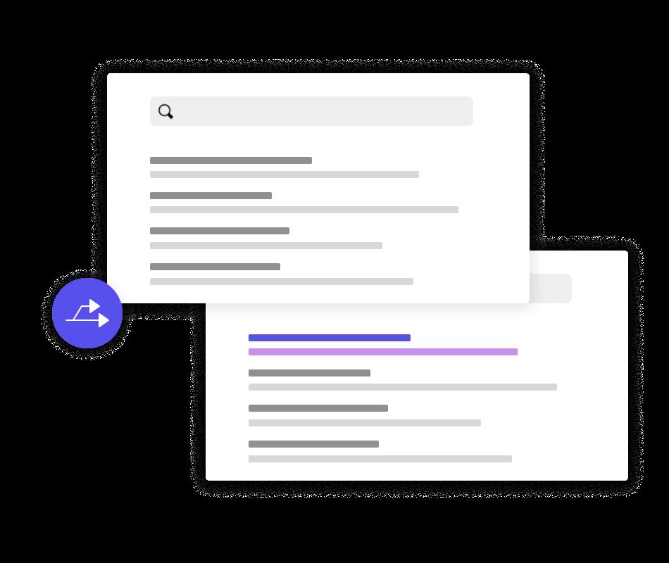 A/B split testing search