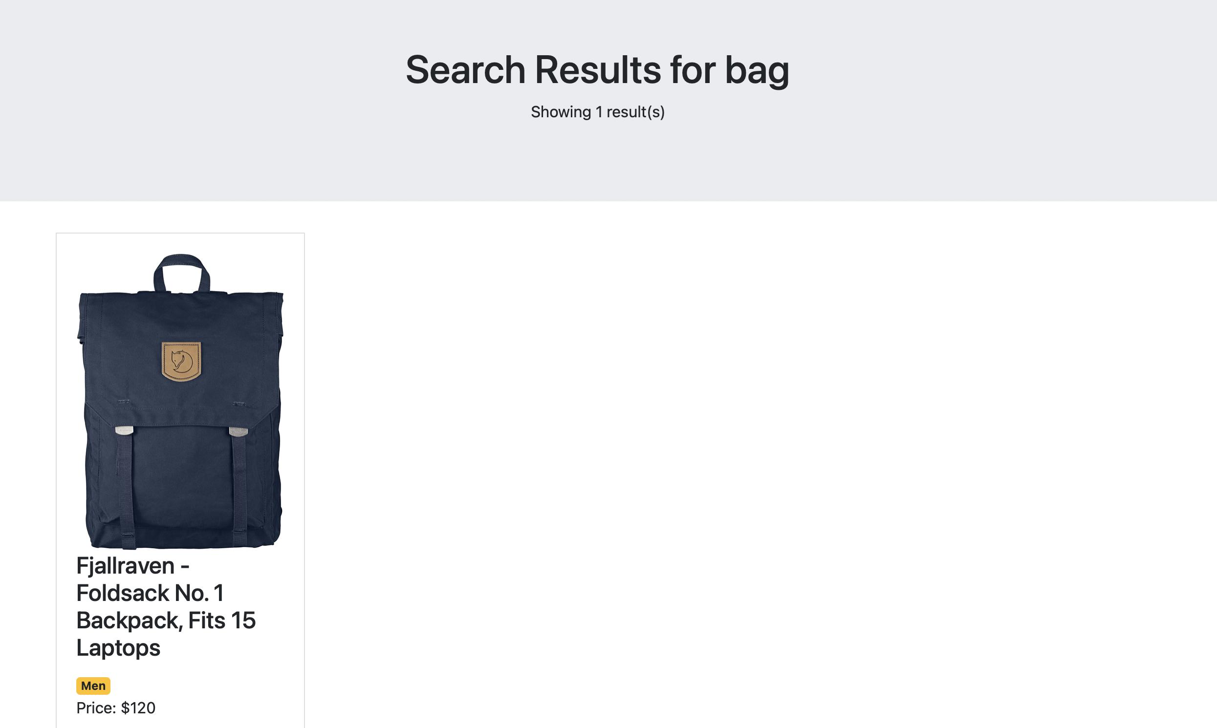 Bag results