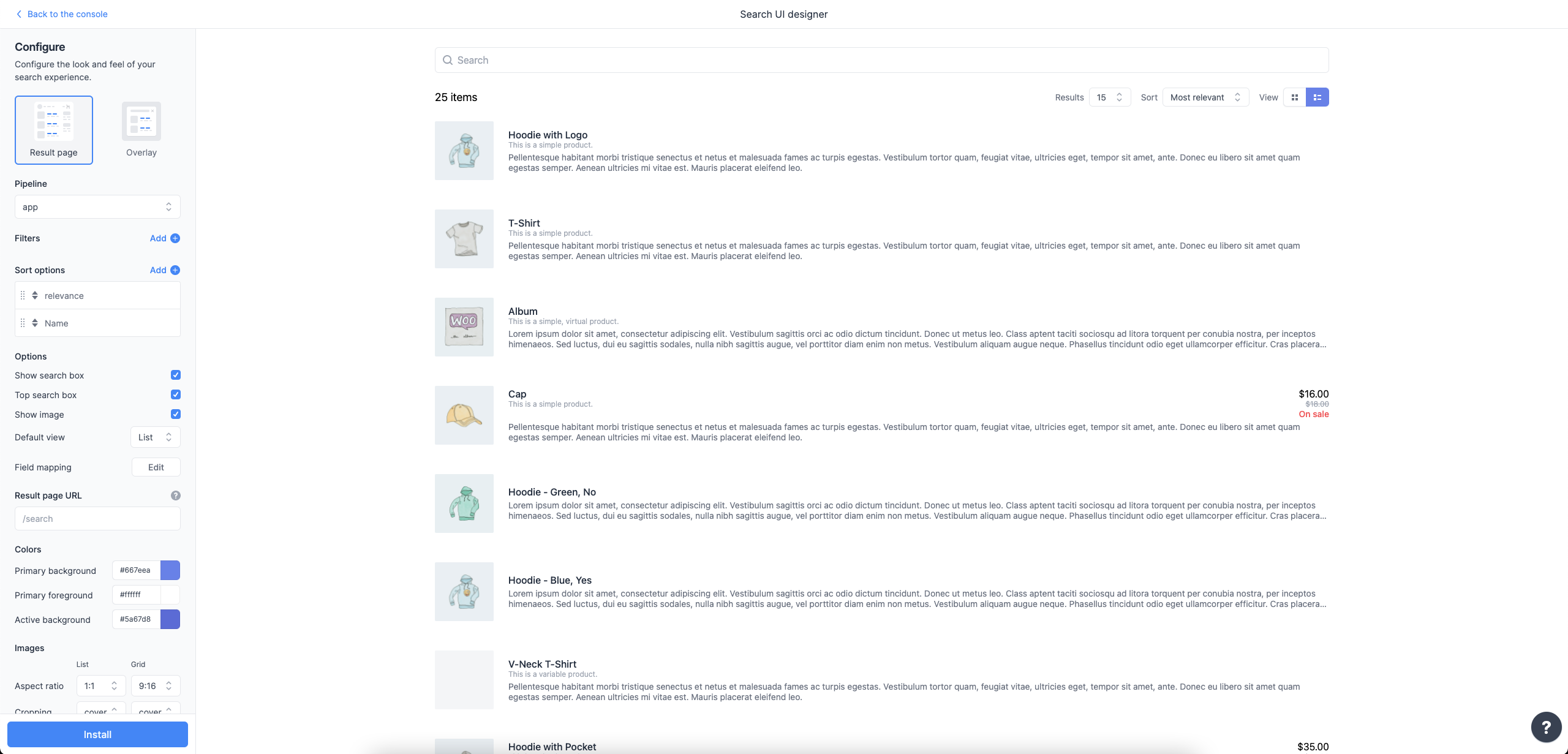 """Designing the search experience with Sajari's """"Search UI Designer"""""""