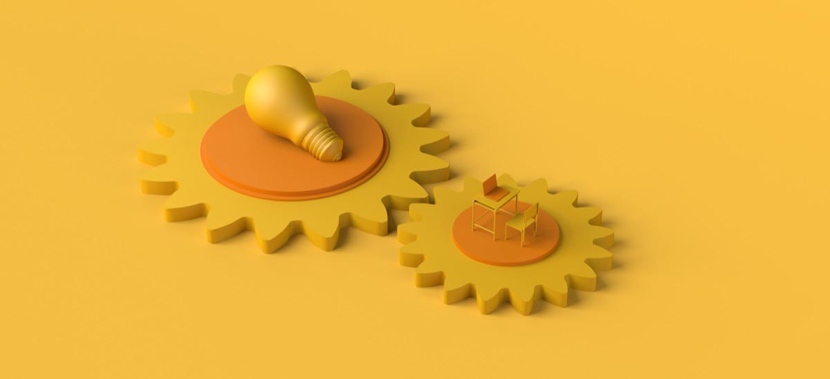 Two yellow gears