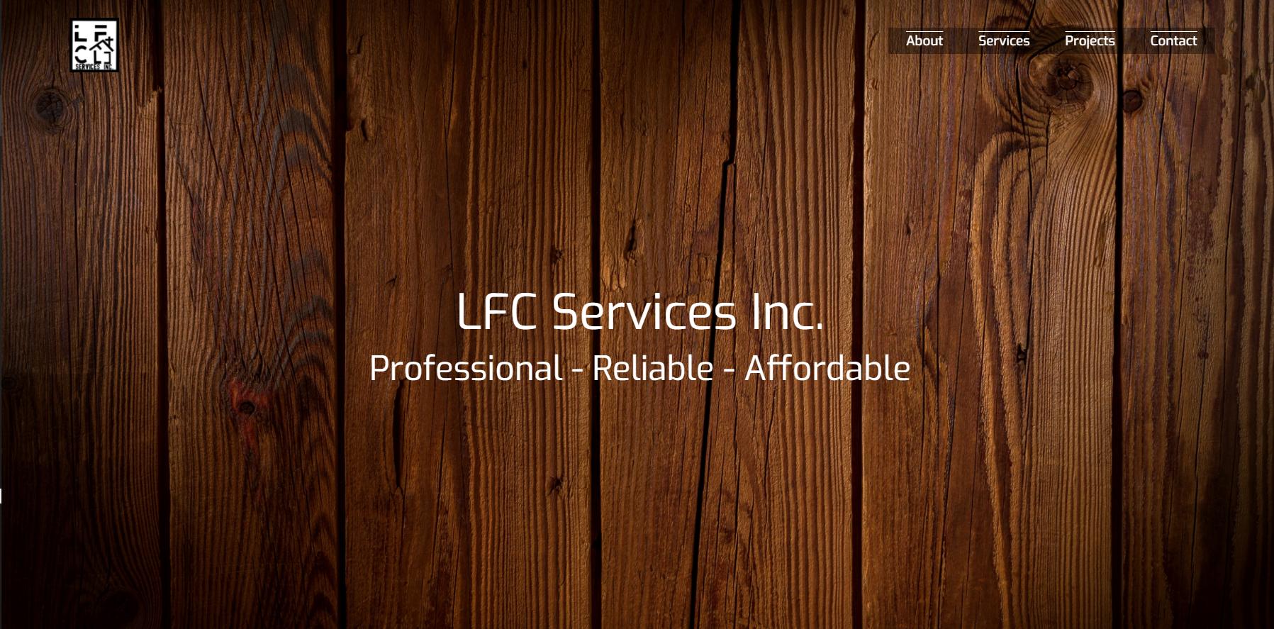 LFC Services Inc. web page