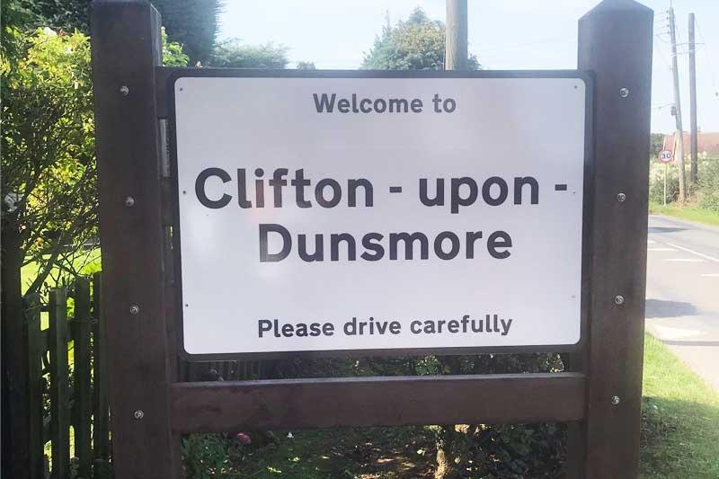 Lilbourne Road Gateway sign